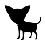 Silhouette of dog icon Stock Image