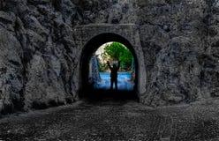 Silhouette,door of hope Royalty Free Stock Image