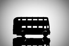Silhouette Double Decker bus Stock Photos
