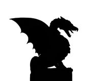 Silhouette of a dragon Royalty Free Stock Images