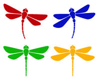 Silhouette of dragonfly Stock Photo