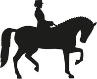 Silhouette of dressage horse Royalty Free Stock Photos