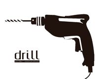 Silhouette of a drill Royalty Free Stock Images