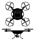 Silhouette drones with remote control. eps 10 vector illustration. Silhouette drones with remote control. Drones for aerial filming . eps 10 vector illustration Royalty Free Stock Photo