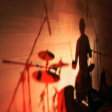 Silhouette Of A drummer Stock Photography
