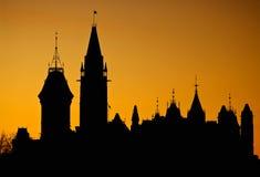 Silhouette du Canada Photos libres de droits