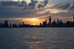 Silhouette du centre de Chicago, l'Illinois image libre de droits