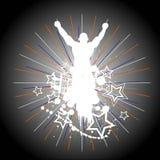 Silhouette du champion. Photographie stock libre de droits