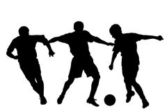 Silhouette du football Photos libres de droits