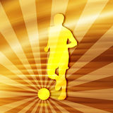 Silhouette du football Photographie stock