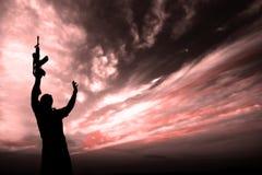 Silhouette du soldat Photos libres de droits