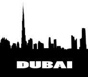 Silhouette of the Dubai Stock Photo