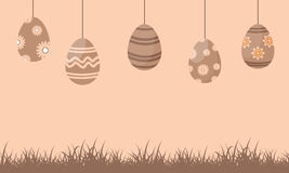 Silhouette of easter egg on brown background Stock Photography