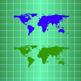 Silhouette eco globe map material design Stock Images