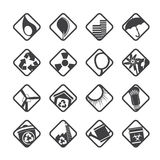 Silhouette Ecology icons - Set for Web Applications Royalty Free Stock Photography