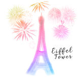 Silhouette of Eiffel tower Royalty Free Stock Photo