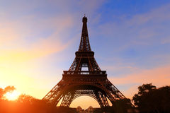 Silhouette of eiffel tower Royalty Free Stock Images