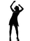 silhouette eleganckiego Fotografia Stock