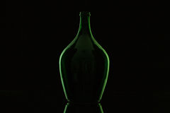 Silhouette of elegant and very old wine bottle Stock Photo