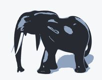 Silhouette of elephant Royalty Free Stock Images