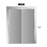 Silhouette elevator gray scale with closed door. Illustration Stock Photography