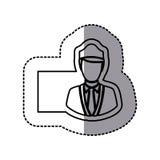 Silhouette emblem guard person icon. Illustraction design image Stock Photo