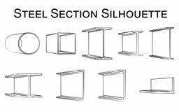 Silhouette en acier de section illustration libre de droits
