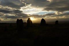 Silhouette en pierre de cercle images stock