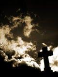 Silhouette en travers photographie stock libre de droits