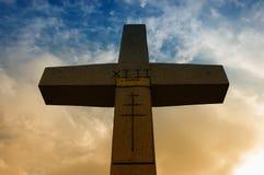 Silhouette en travers chrétienne Images libres de droits