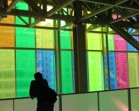 Silhouette en verre souillé Photo libre de droits