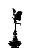 Silhouette of Eros statue Royalty Free Stock Photography