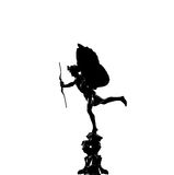 Silhouette of Eros statue Royalty Free Stock Images