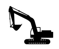 Silhouette the excavate. Stock Image