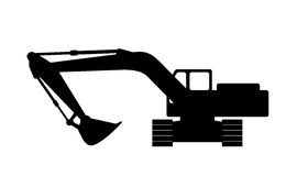 Silhouette the excavate. Stock Photo