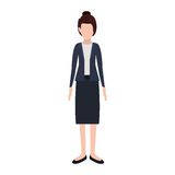 Silhouette executive woman with collected hair Royalty Free Stock Photo