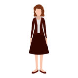 Silhouette executive woman with short hair Stock Photography