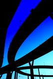 Silhouette expressway many routes overlap Royalty Free Stock Photography