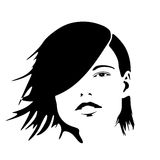 silhouette för 3 mode stock illustrationer