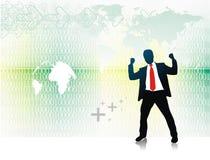 silhouette för affärsman vektor illustrationer