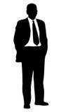 silhouette för affärsman Arkivfoto