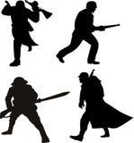 silhouette för armémanmilitär Arkivbild