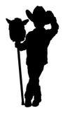 silhouette för clippingbana Royaltyfri Bild