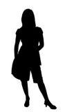 silhouette för clippingbana stock illustrationer