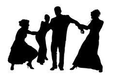 silhouette för clippingbana royaltyfri illustrationer
