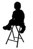 silhouette för clippingbana Royaltyfri Foto