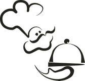 silhouette för kock 2 Fotografering för Bildbyråer
