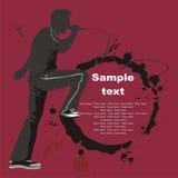 silhouette för konstrammusiker Arkivfoton