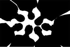 silhouette för vänner sju Royaltyfri Foto
