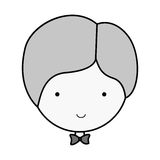 Silhouette face groom with bowtie Stock Photos